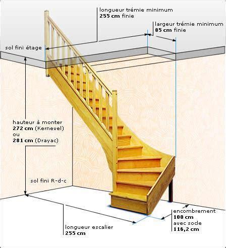 reculement d un escalier escalier standard 1 4 tournant kernevel