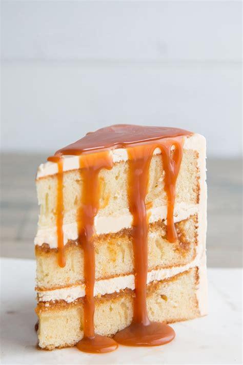 salted caramel cake   vanilla sponge base kitchen
