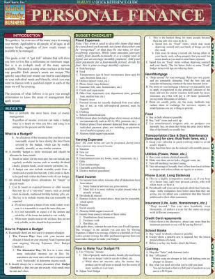 personal finance chart personal finance laminate reference chart by steven berner