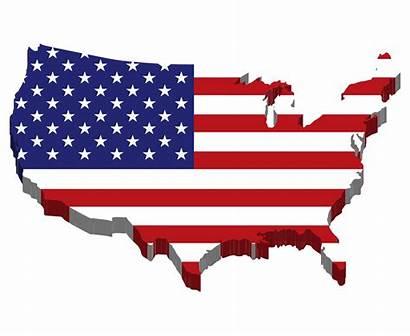 America United Clipart Flag Map States Usa