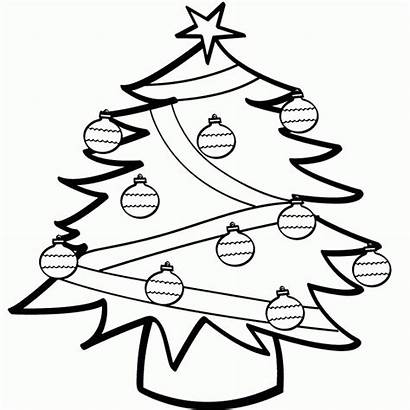 Christmas Coloring Tree Pages Ornaments Decoration Ornament