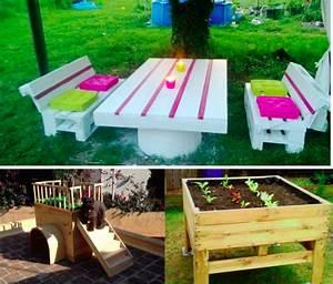 10 idees de creations en palettes pour le jardin des idees With idee deco jardin terrasse 10 salle de bain 3 5m2