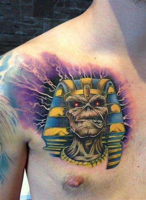 powerslave tatts tattoos iron maiden watercolor tattoo