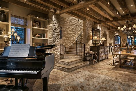 Library with Grand Piano   Rustic   Dining Room   Phoenix