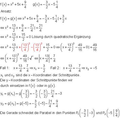 loesungen geraden parabeln vk  mathe brinkmann