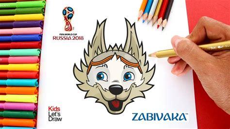 Cómo dibujar a ZABIVAKA (La Mascota del Mundial Rusia 2018