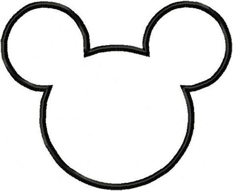 mickey mouse template   clip art webcomicmsnet