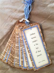 Cheap Baby Shower Gift Ideas by Items Similar To Vintage Bookmarks Party Favors Baby