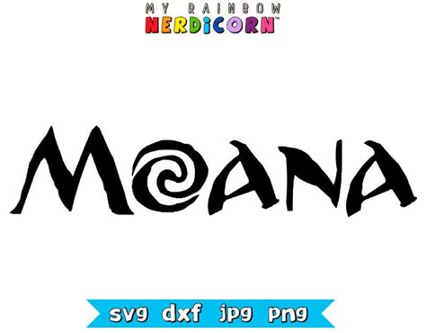 moana november 2016 disney clipart file in svg png jpg dxf for cricut silhouette by