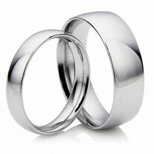 matching 2mm 4mm court shape platinum wedding rings With matching platinum wedding rings