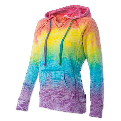 Rainbow Tie Dye Hoodie Size S 2xl From Itscosmatic On Etsy