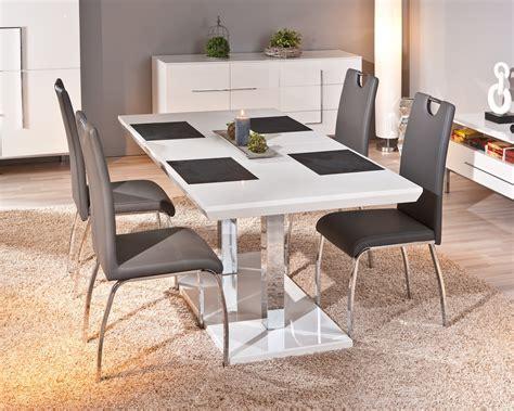 chaise de salle chaise design de salle à manger coloris gris lot de 2