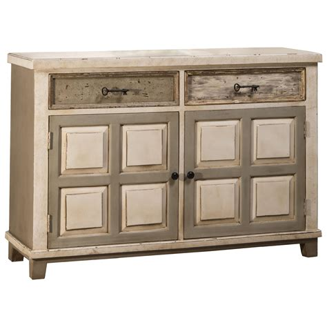 Accents Console Table With Two Door Storage And Light