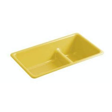 yellow kitchen sink k6625 j14 iron tones white color bowl kitchen sink 1220