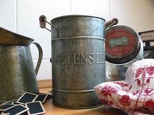 Pot A Ustensile : pot zinc ustensiles d co brocante antic line dec6312 retrodeco boutique de d coration pour ~ Teatrodelosmanantiales.com Idées de Décoration