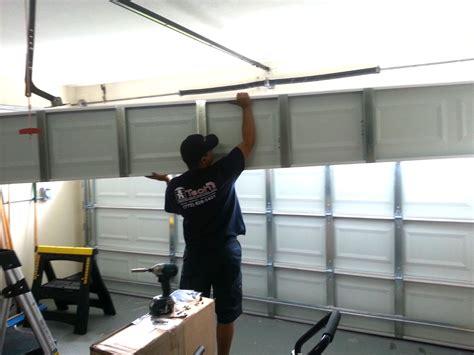 how to repair a garage door and genie garage door opener on garage door opener portfolio a tech garage door replacement port st