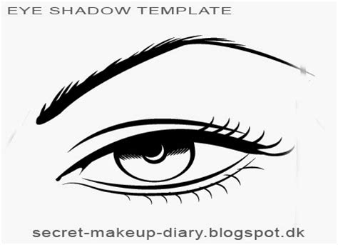 eye template secret makeup diary eye shadow styles template free