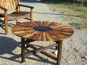 Table Ronde Bois Exterieur. grande table ronde de jardin en teak ...