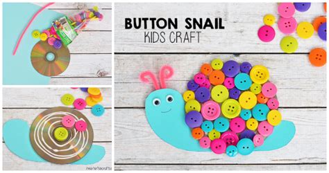 button snail craft for i arts n crafts 615 | BUTTON SNAIL CRAFT 5