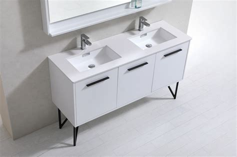 60 inch double sink vanity top 60 inch high gloss white double sink bathroom vanity with