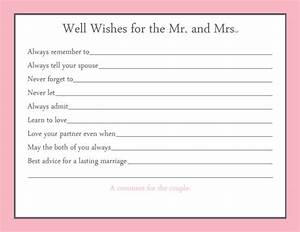 items similar to advice card bridal shower game 20 With bridal shower advice cards template