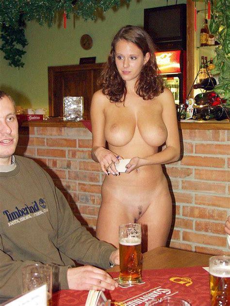 Cute Big Breast Naked Waitress Taking Orders In A Bar Xxx Photo