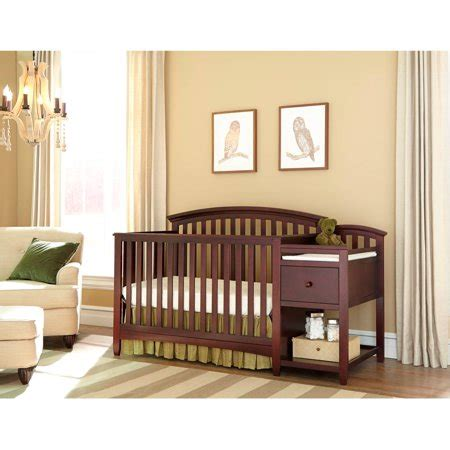 crib changing table combo imagio baby montville 4 in 1 fixed side crib and changing