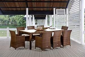 rattanmobel rattan tisch gartentisch nairobi esstisch With französischer balkon mit garten esstisch