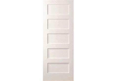 5 Even Panel White Primed Shaker Door (1-3/8