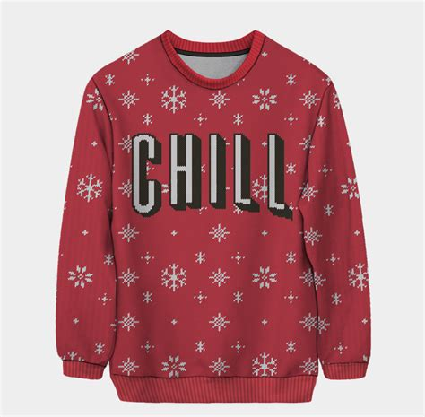 netflix and chill snowflake pullover the ultimate ugly
