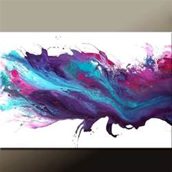 abstract canvas painting 36x24 original purple blue modern contemporary paintings by