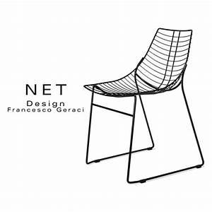 Chaise Design Metal : net chaise design structure filaire en m tal chrom pi tement luge ~ Teatrodelosmanantiales.com Idées de Décoration