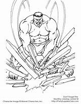 Coloring Pages Hulk Incredible Printable Colouring Superhero Projects Stone Crushing Avengers sketch template