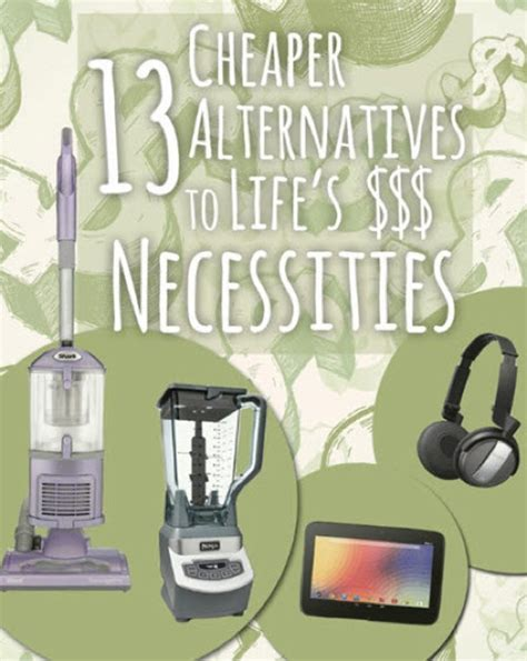 13 Cheap Alternatives To Life's Expensive Necessities