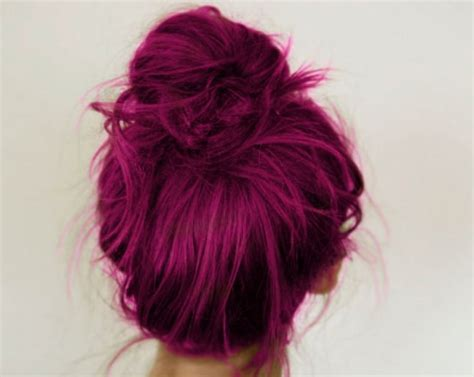 Cool Hair Shades by Cool Hair Stunning Magenta Topknot Hairstyles Weekly