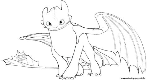Baby Toothless How Train Your Dragon Coloring Pages Printable