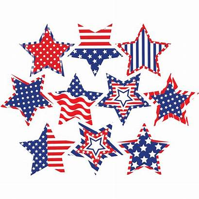 Patriotic Stars America Fancy Captain Shield Accents