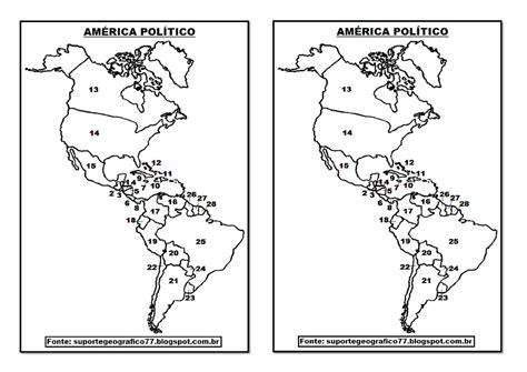 MAPAS PARA COLORIR AMÉRICA Suporte Geográfico