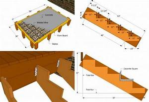 Holztreppe Außen Selber Bauen : gartentreppe holz bauen plan treppenpodest kies zement treppenwangen holzbrett treppe in 2019 ~ Buech-reservation.com Haus und Dekorationen