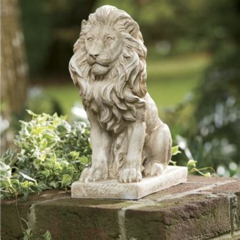 Lion Statue I Want Several Of These Amid The Gardens Of