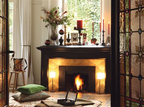 decorating ideas for fireplaces 40 christmas fireplace mantel decoration ideas