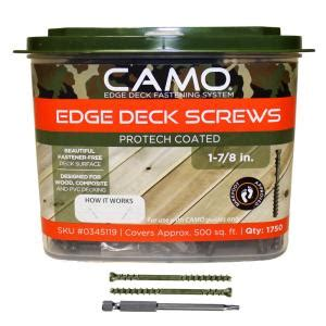 camo 1 7 8 in protech coated trimhead deck screw 1750