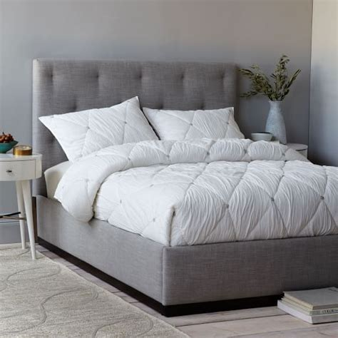tufted headboard and frame tufted plinth bed west elm