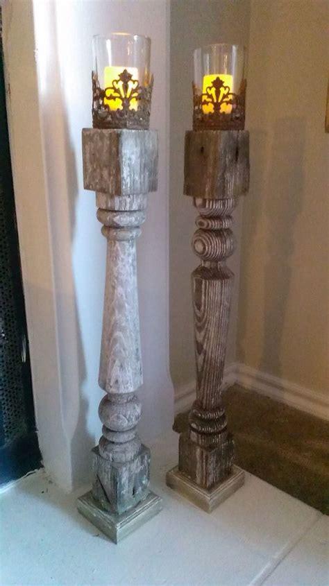 repurposed newel posts repurposed home pinterest