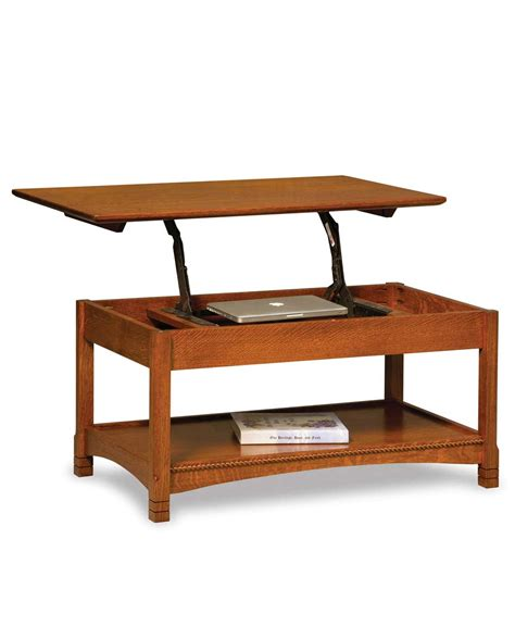 West Lake Open Coffee Table With Lift Top  Amish Direct