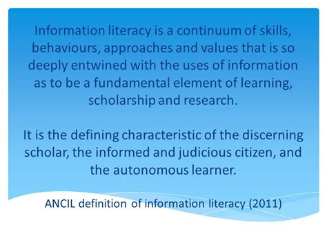 blue skies a new definition of information literacy a