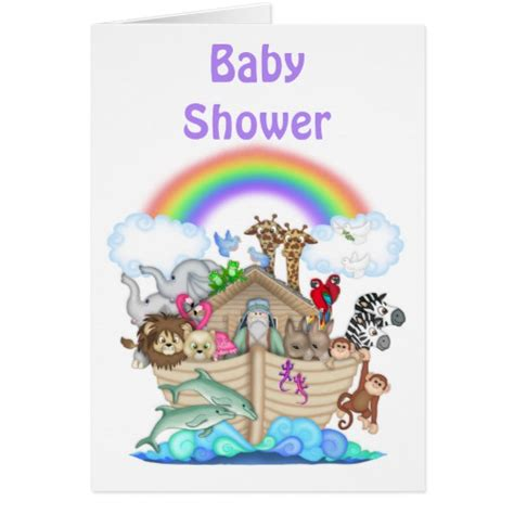 noah 39 s ark baby shower invitation zazzle