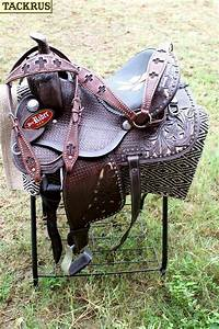 13-Horse-Western-Barrel-Show-Pleasure-LEATHER-SADDLE ...