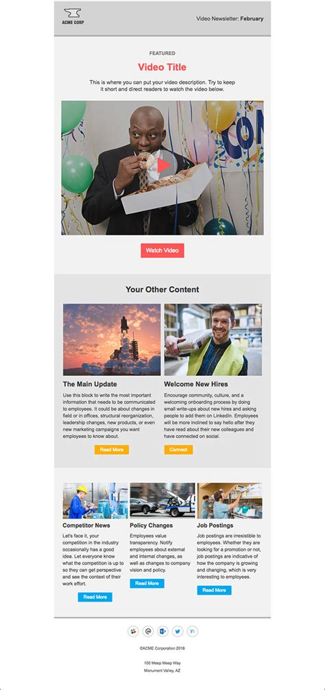 employee newsletter templates 5 newsletter templates for outlook that employees will