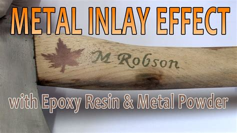 Metal Inlay Effect With Epoxy Resin And Metal Powder Youtube